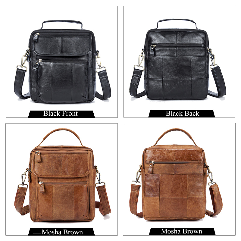 Genuine Leather Small Flap Casual Shoulder Bag Mens Crossbody Bags