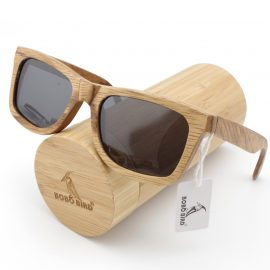 Square Polarized Bamboo Sunglasses Mens Sunglasses