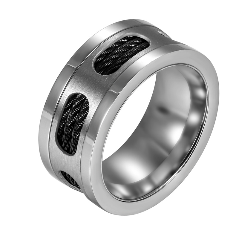 Stainless Steel Ring With Wire Mens Rings Steel Rings