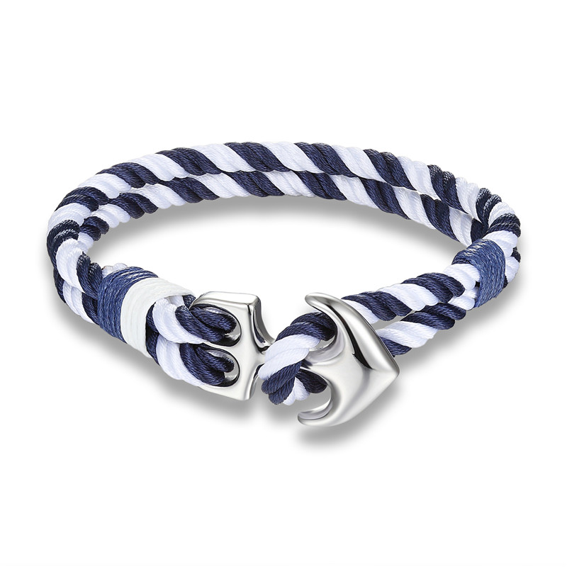 Nautical Survival Rope Chain Anchor Bracelet Mens Bracelets