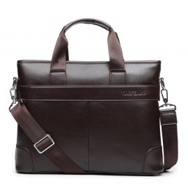 Business Casual PU Leather Briefcase Mens Briefcases