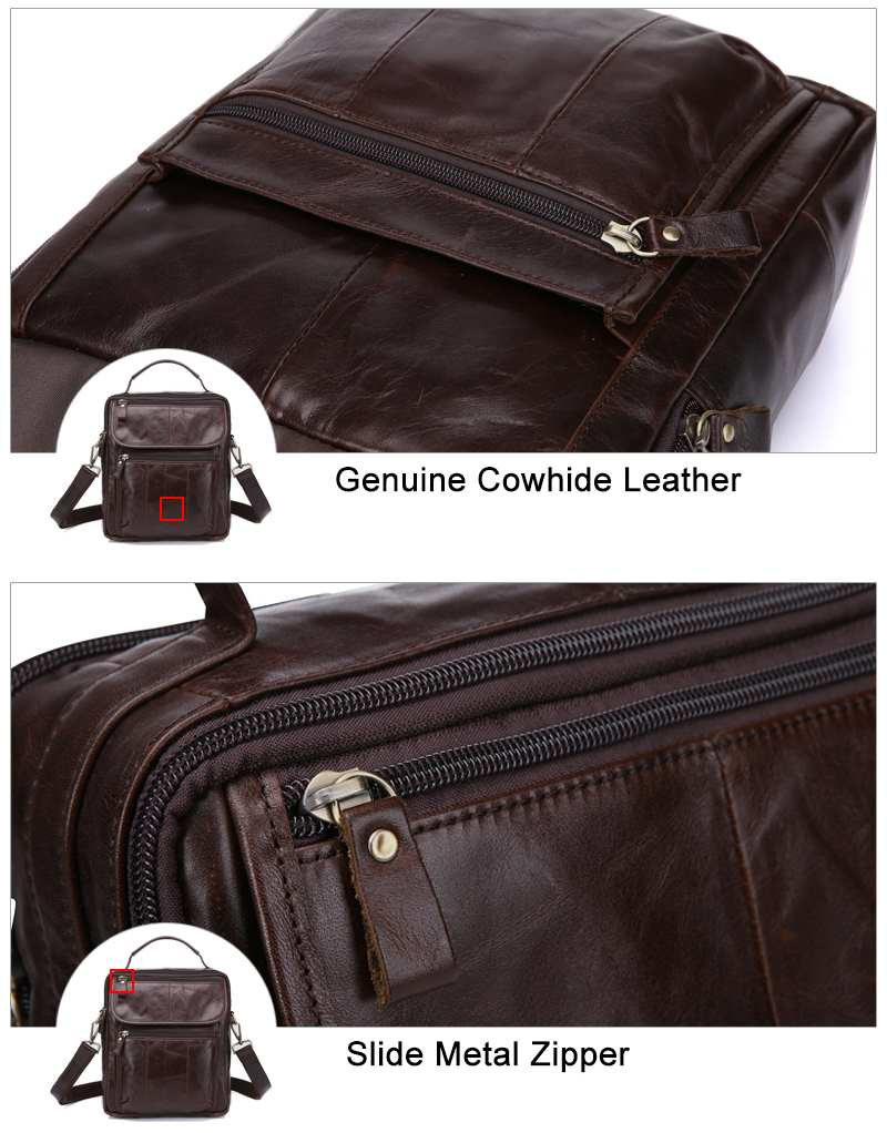 Genuine Leather Small Flap Casual Shoulder Bag