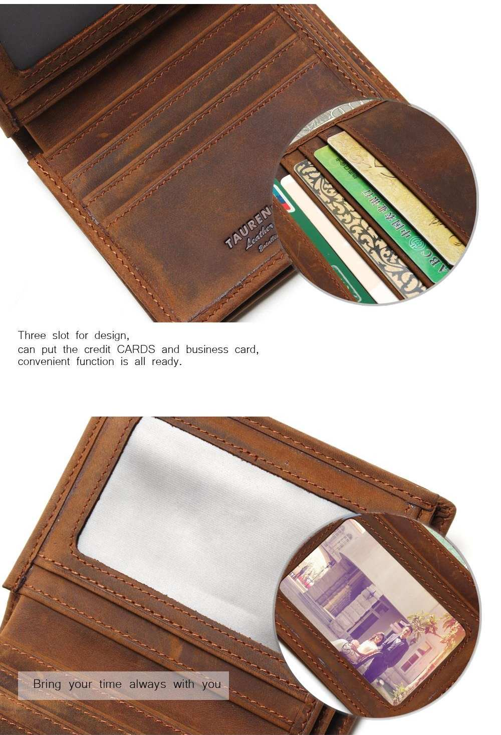 Vintage Genuine Leather Wallet For Men Mens Wallets