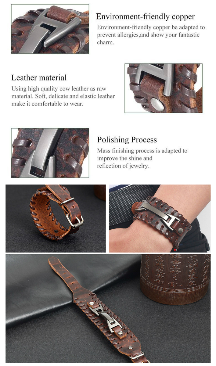 Multilayer Leather Braided Rope Bracelet