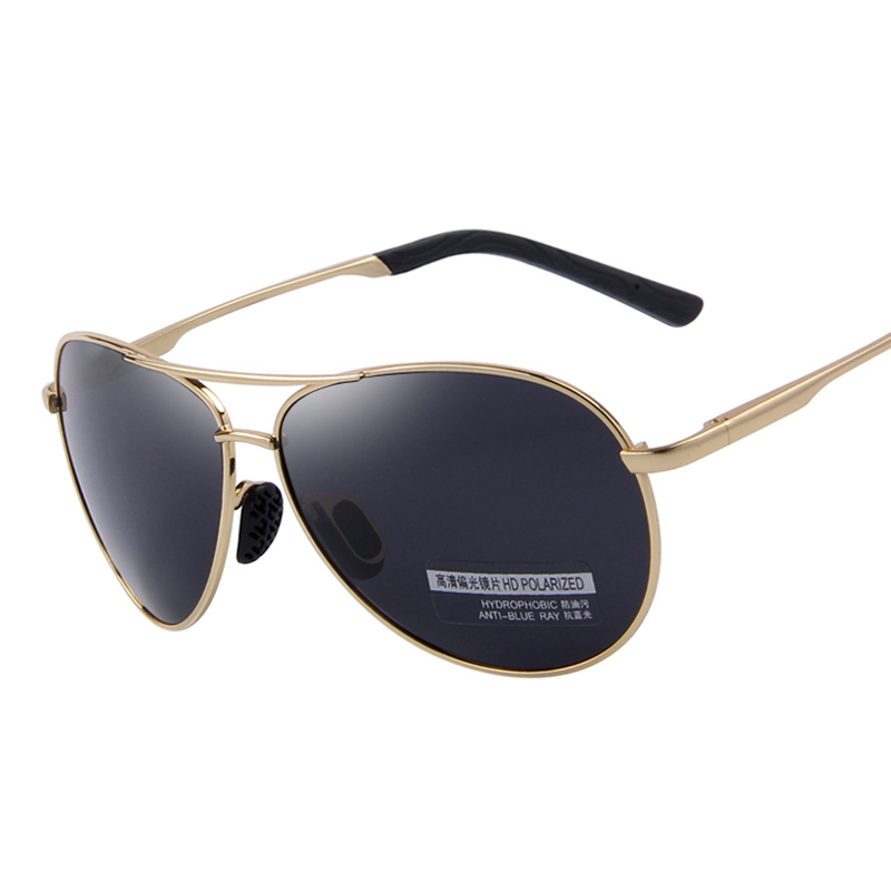 Polarized Pilot Style Aviator Sunglasses Mens Sunglasses