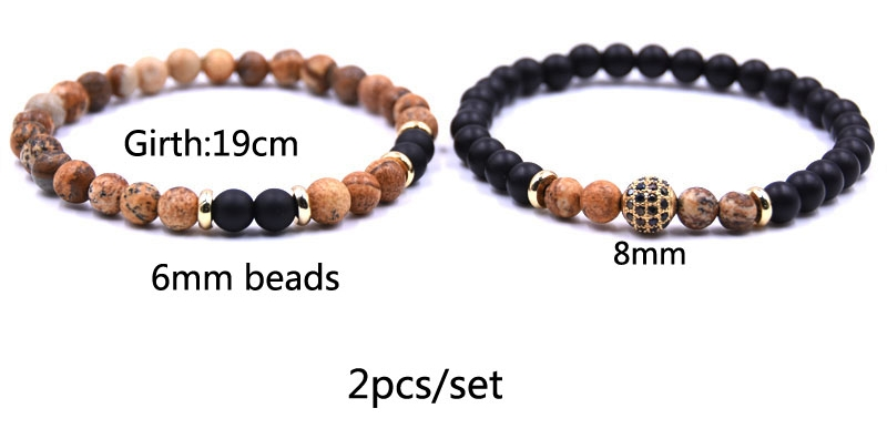 Natural Stone Ball Charms Bracelet
