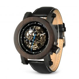 Automatic Mechanical Skeleton Wooden Watch Mens Mechanical Watches