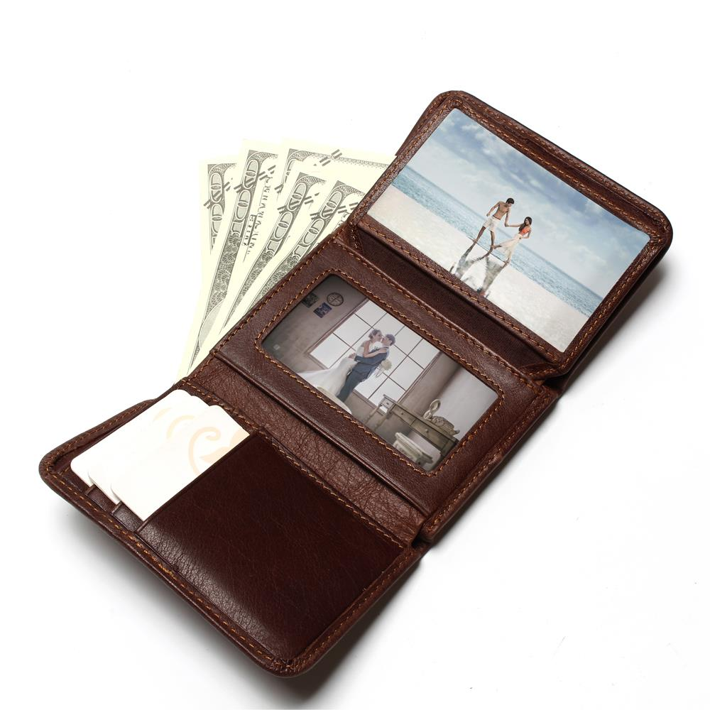 RFID Anti-Theft Scanning Genuine Leather Wallet Mens Wallets