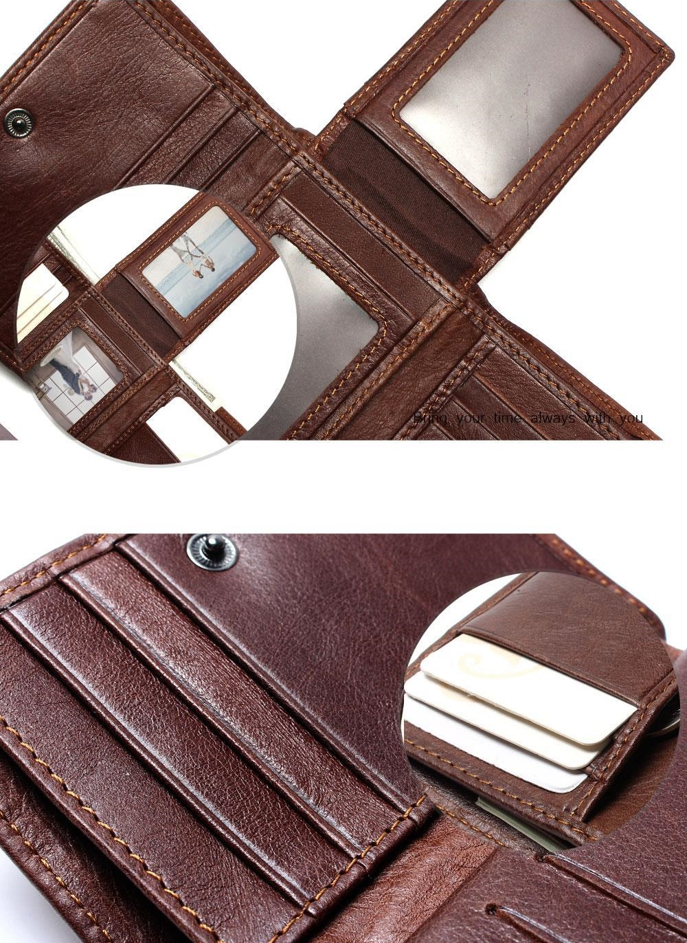 Anti-Theft Scanning Genuine Leather Wallet