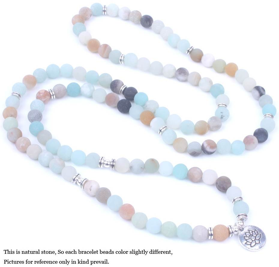 Matte Frosted Amazonite Beads Bracelet