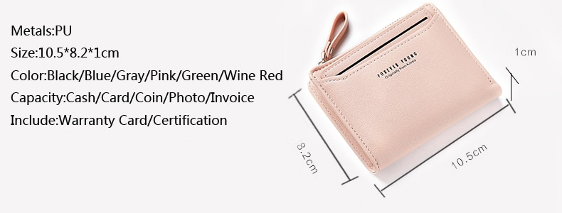Small Women Wallets With ID Card Holder