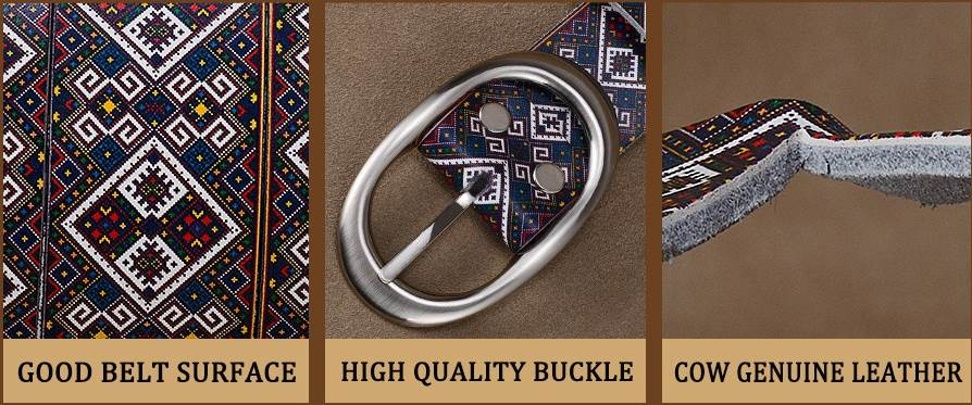 Floral Genuine leather belts for women