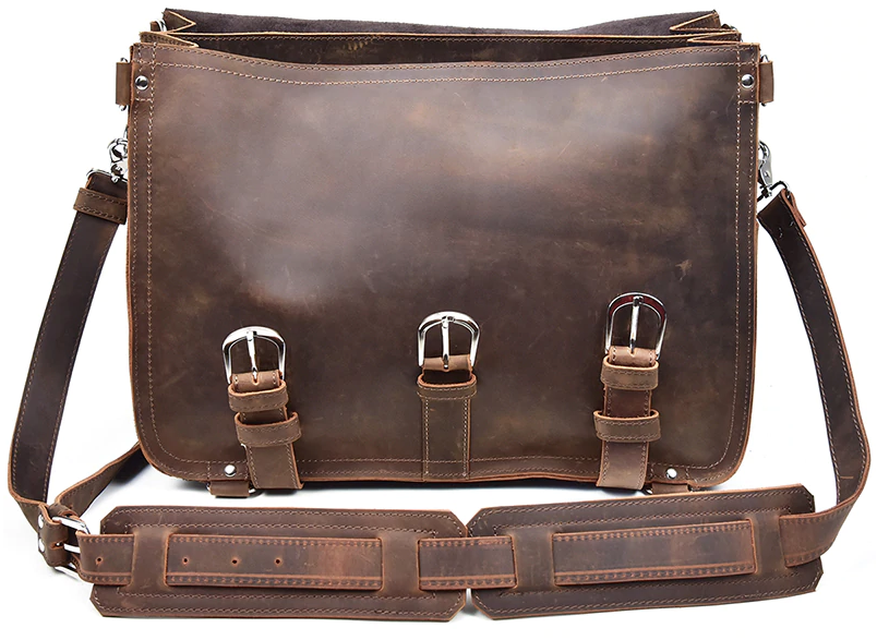 Crazy horse leather travel bag