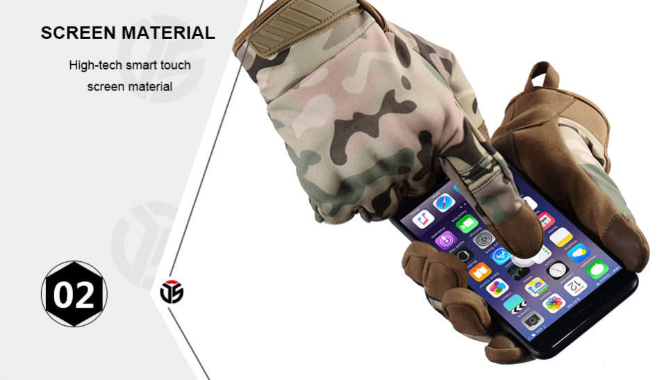 Waterproof Tactical Hard Knuckle Gloves Mens Gloves & Mittens