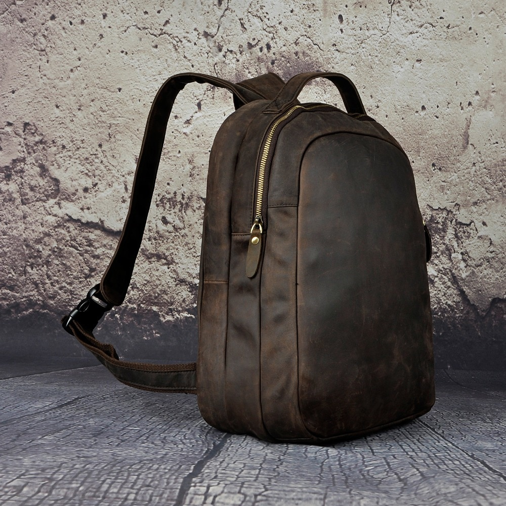 Real Leather Fashion Travel Backpack Mens Backpacks