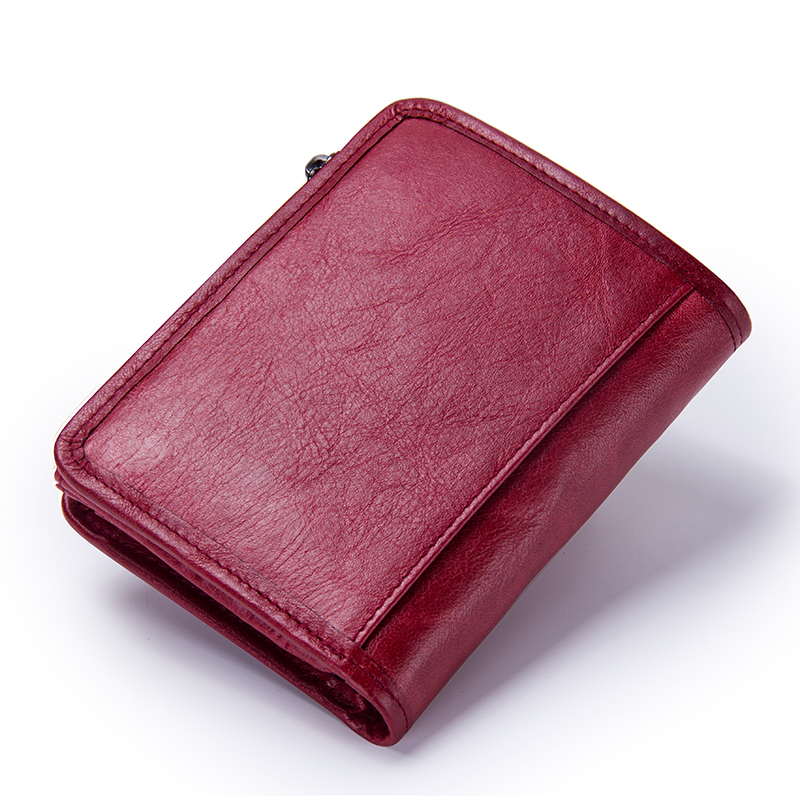 Genuine Leather Short Pocket Wallets Women's Wallets
