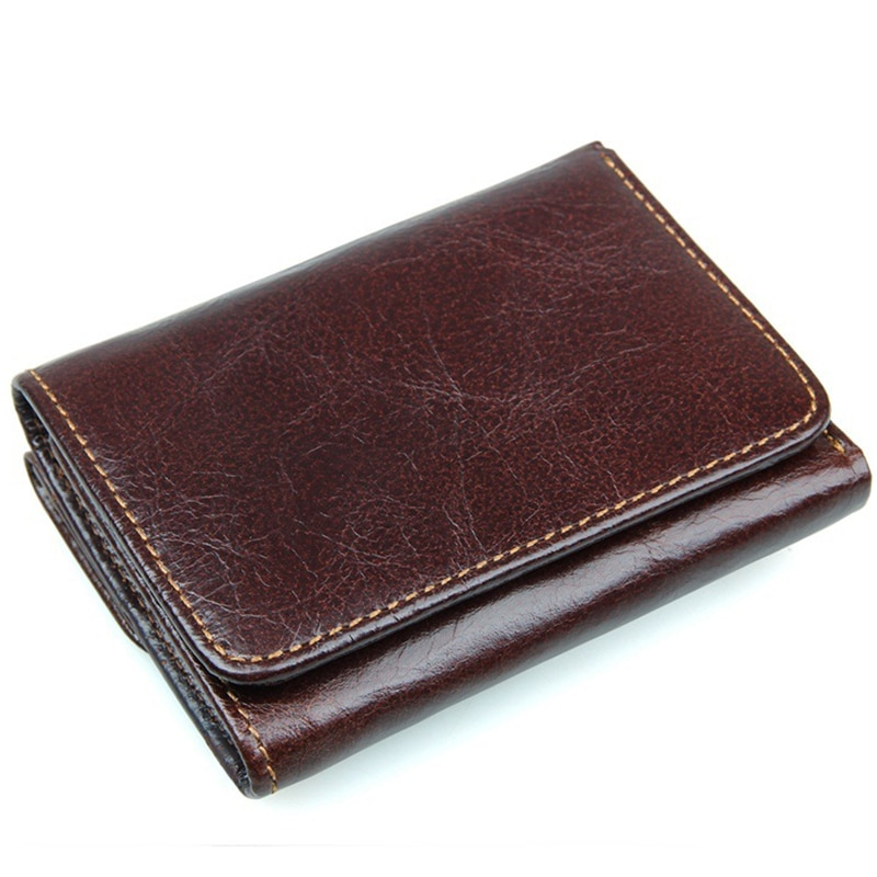 Vintage Antimagnetic Cow Leather Wallet RFID Mens Wallets