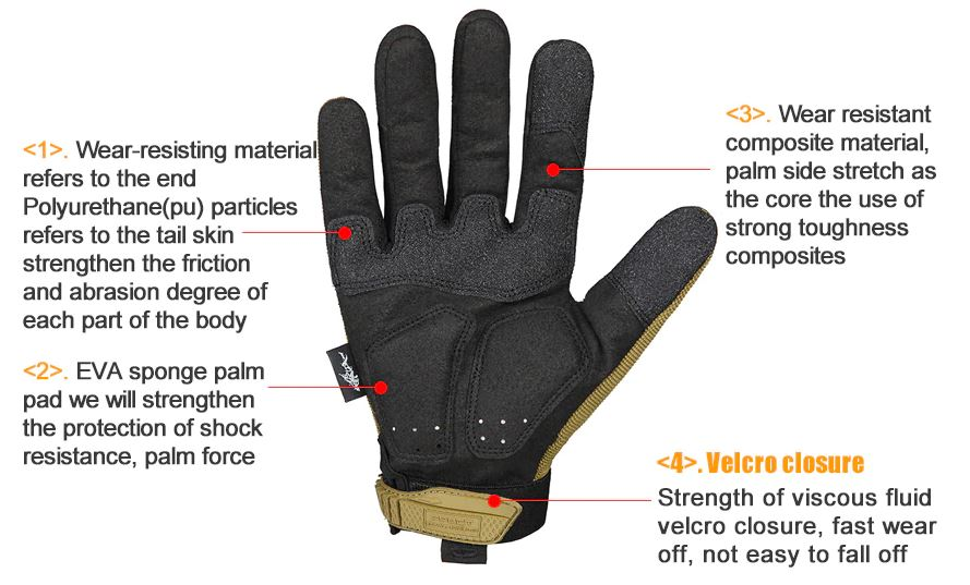 outdoor hiking cycling training sport tactical gloves