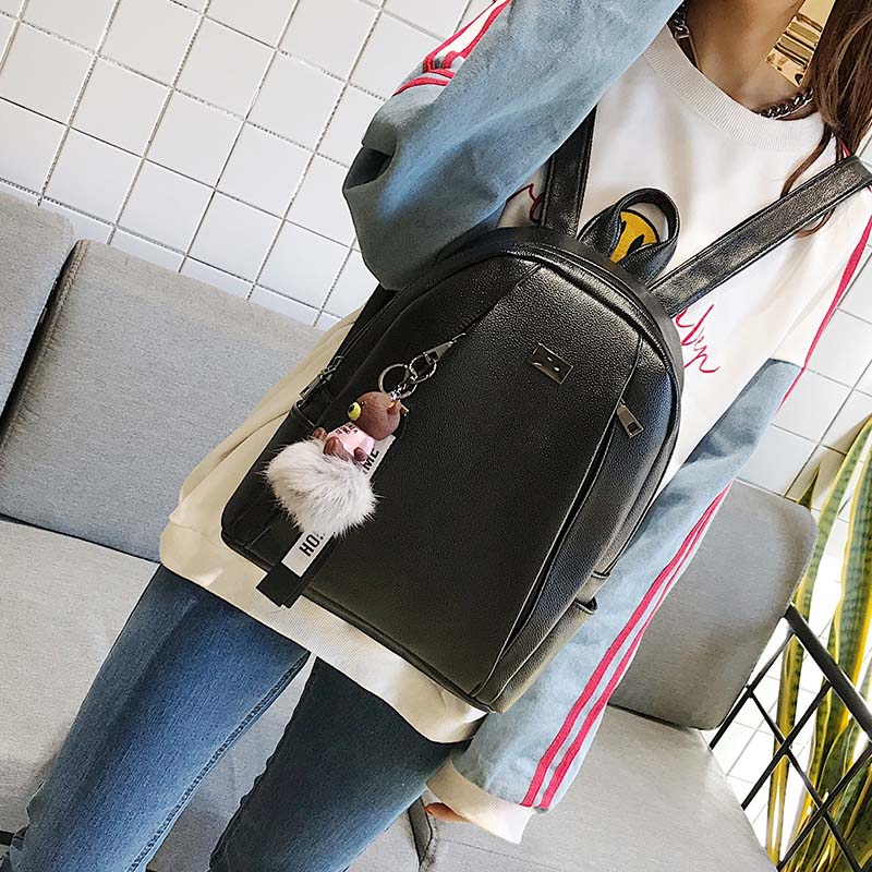 Fashion Gold Leather Large Backpack Women's Backpacks