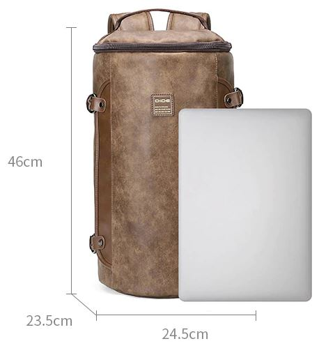 Cylindrical Design Travel Backpack