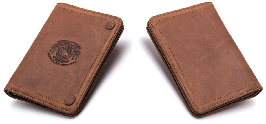 Crazy Horse Genuine Leather Male Short Wallet