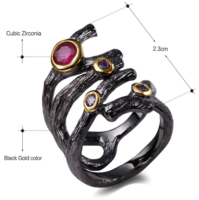 Gothic Hollow Rolling Braided Ring