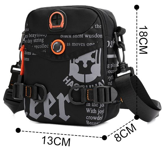 Waterproof Nylon Graffiti Crossbody Bags