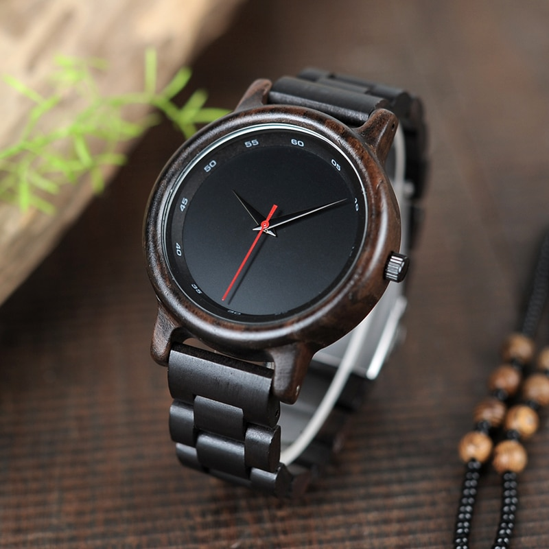 Simple Style Wooden Quartz Watches Mens Quartz Watches