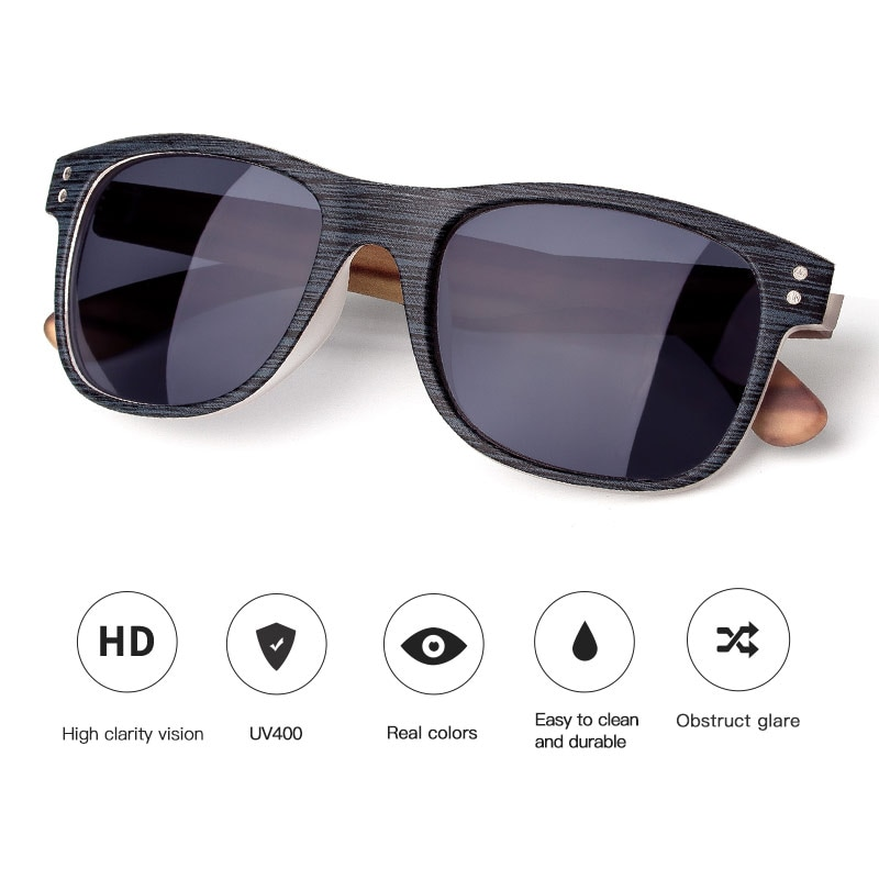 Fashion Square Polarized Sunglasses Mens Sunglasses