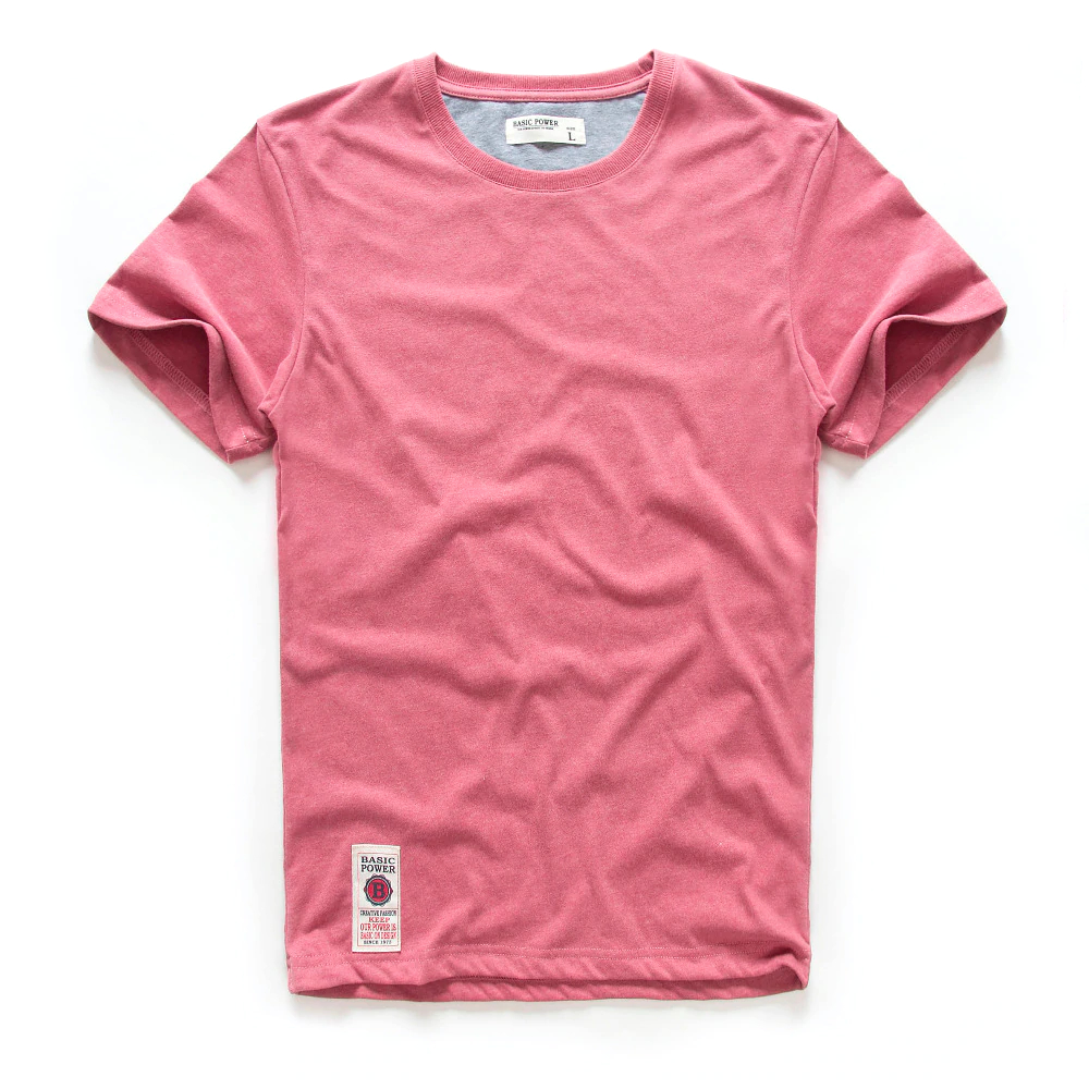 Cotton Multi Pure Color Print T-Shirt Mens T-Shirts