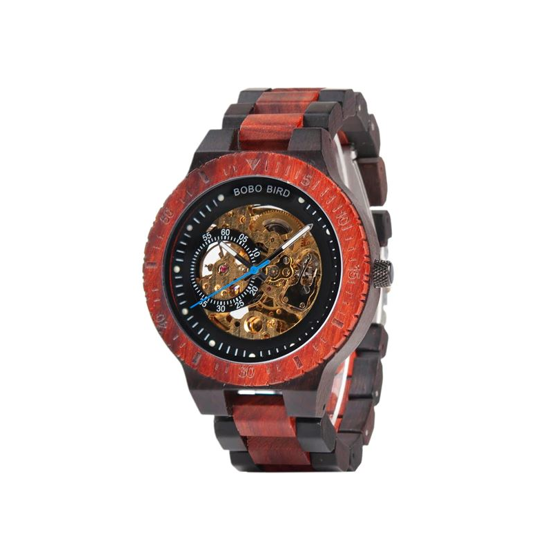 Luxury Wooden Mechanical Watch Mens Mechanical Watches