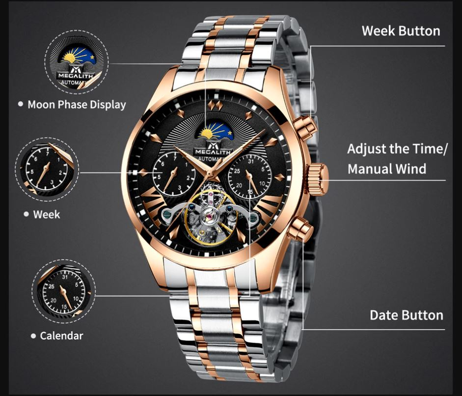 Fashion Automatic Self-Wind Mechanical Wristwatches