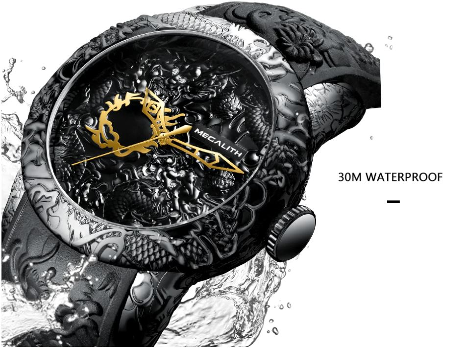 Waterproof Big Dial Sport Watches