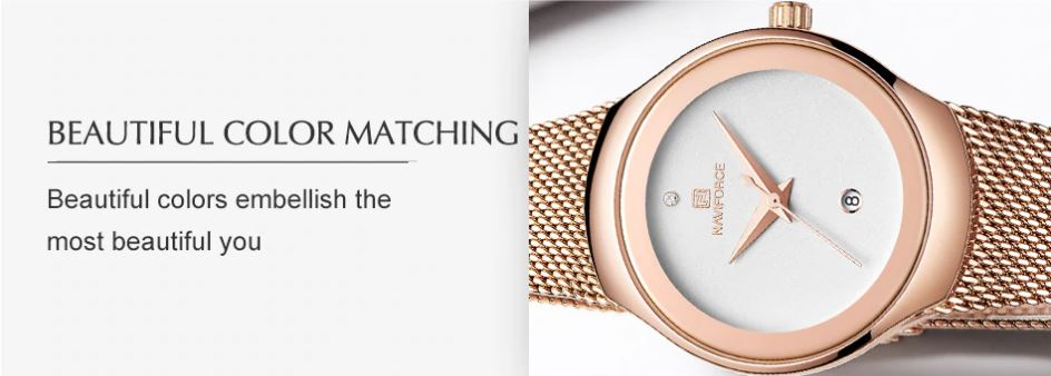 Lady Stainless Steel Waterproof Wristwatch