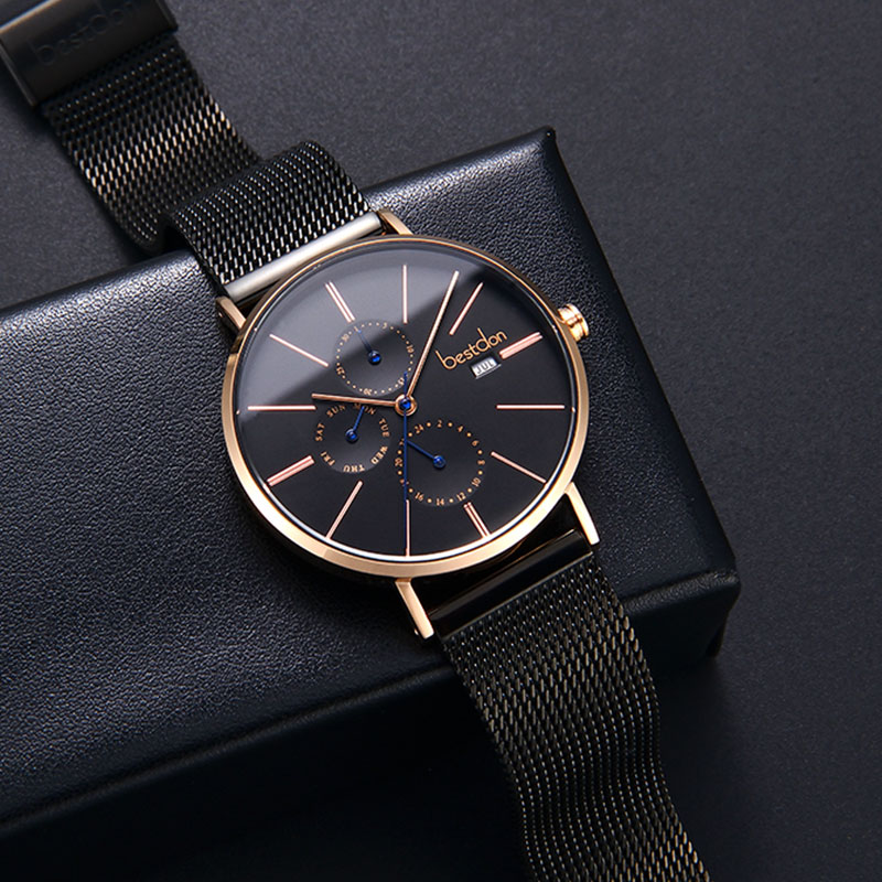 Luxury Quartz Waterproof Slim Watches Mens Quartz Watches