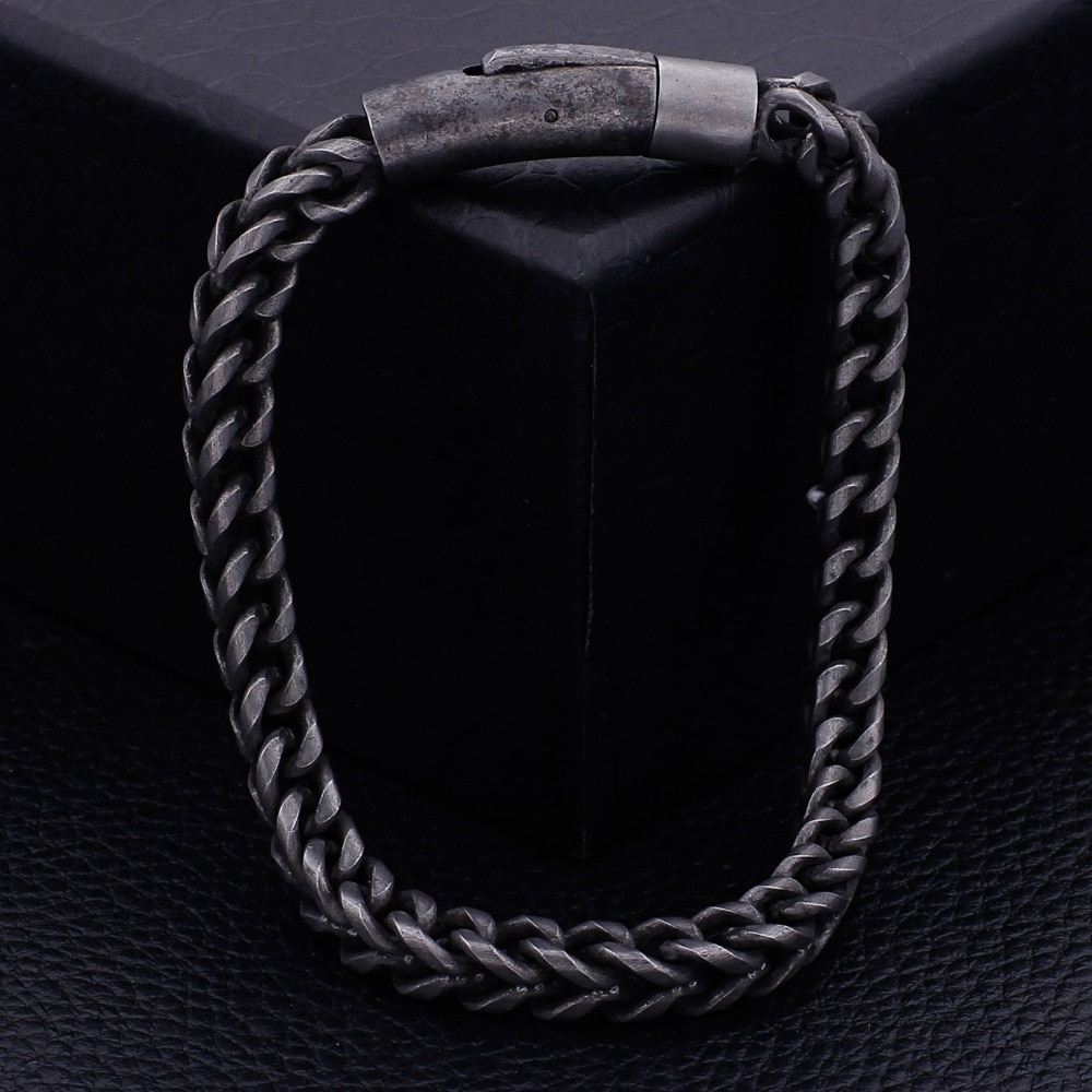 Thick Chain Black Stainless Steel Bracelet Mens Bracelets Steel Bracelets