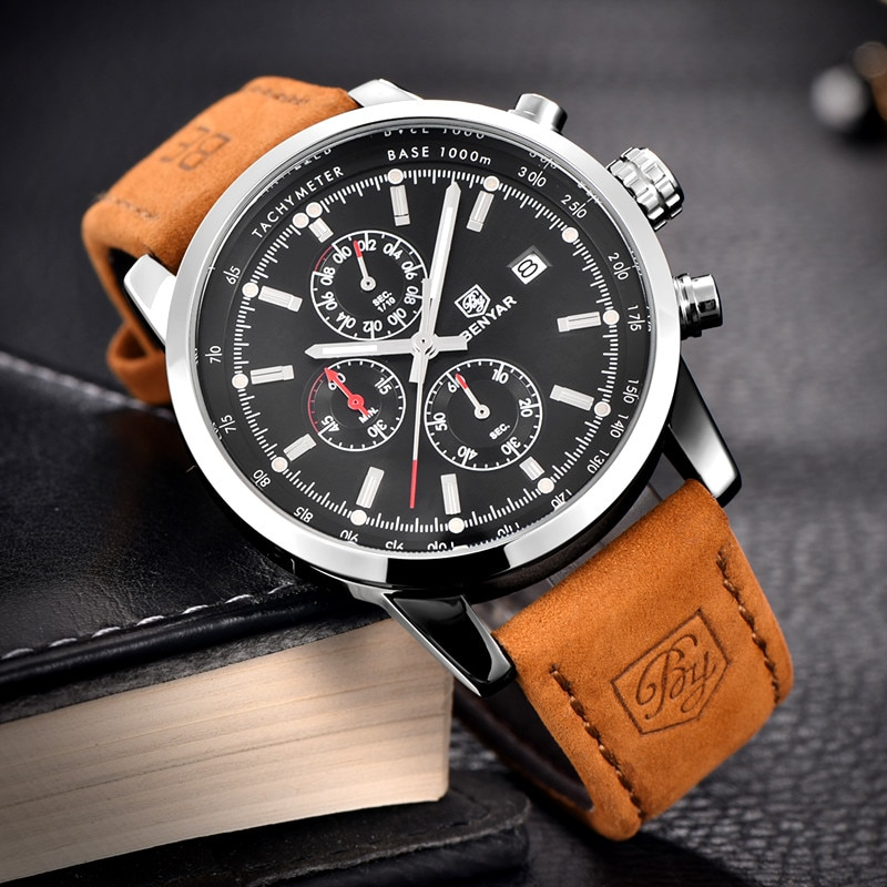 Luxury Chronograph Quartz Watch Mens Quartz Watches