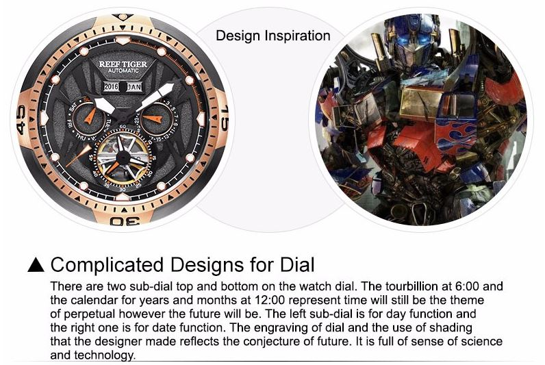 Complicated Dial with Year Month Perpetual Calendar Big Steel Case Watches