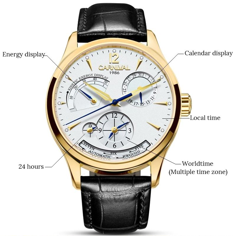 Fashion Multifunction Automatic Mechanical Watch