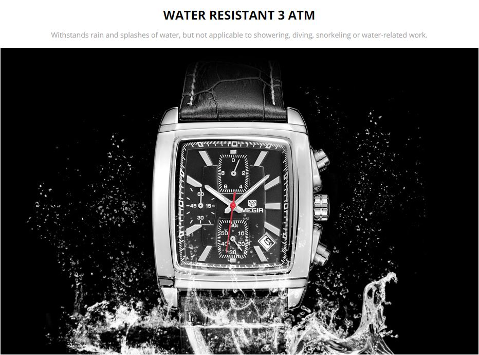 man chronograph leather watch for male