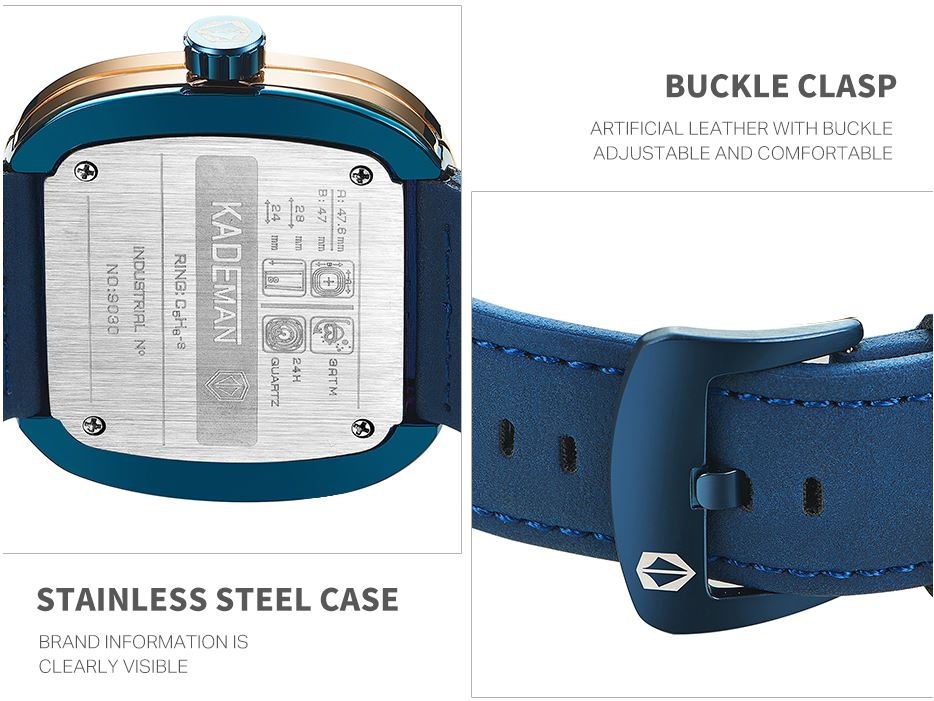 Casual Leather Wristwatches Business