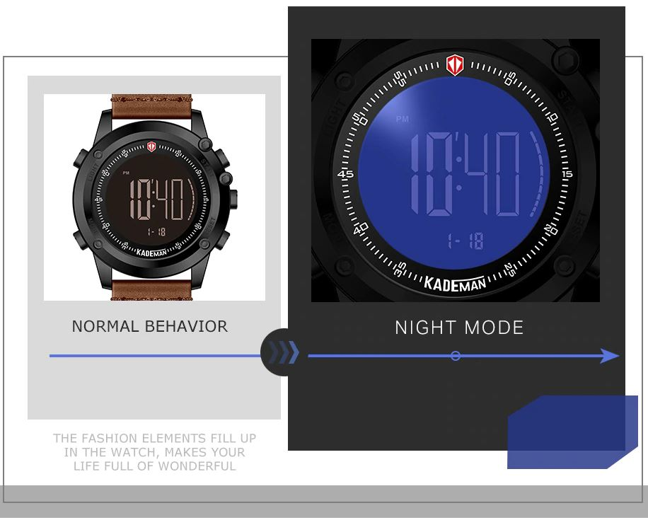 Top Luxury Brand LED Male Wristwatches
