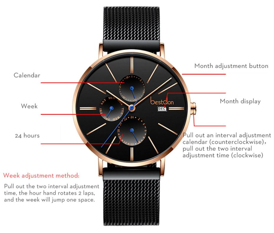 Luxury Quartz Waterproof Slim Watches