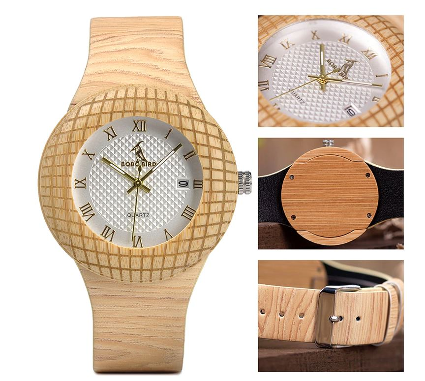 Wooden Quartz Wristwatches for Gifts