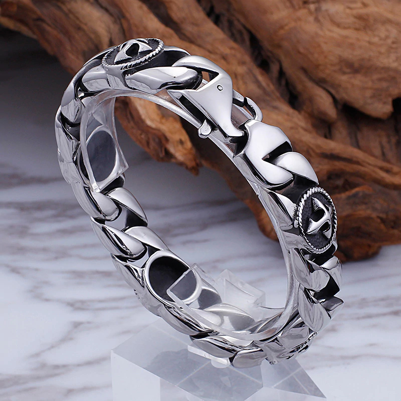 Stainless Steel Men's Cross Bracelet Mens Bracelets Steel Bracelets
