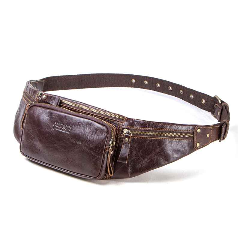 Casual Leather Small Travel Waist Pack Waist Packs