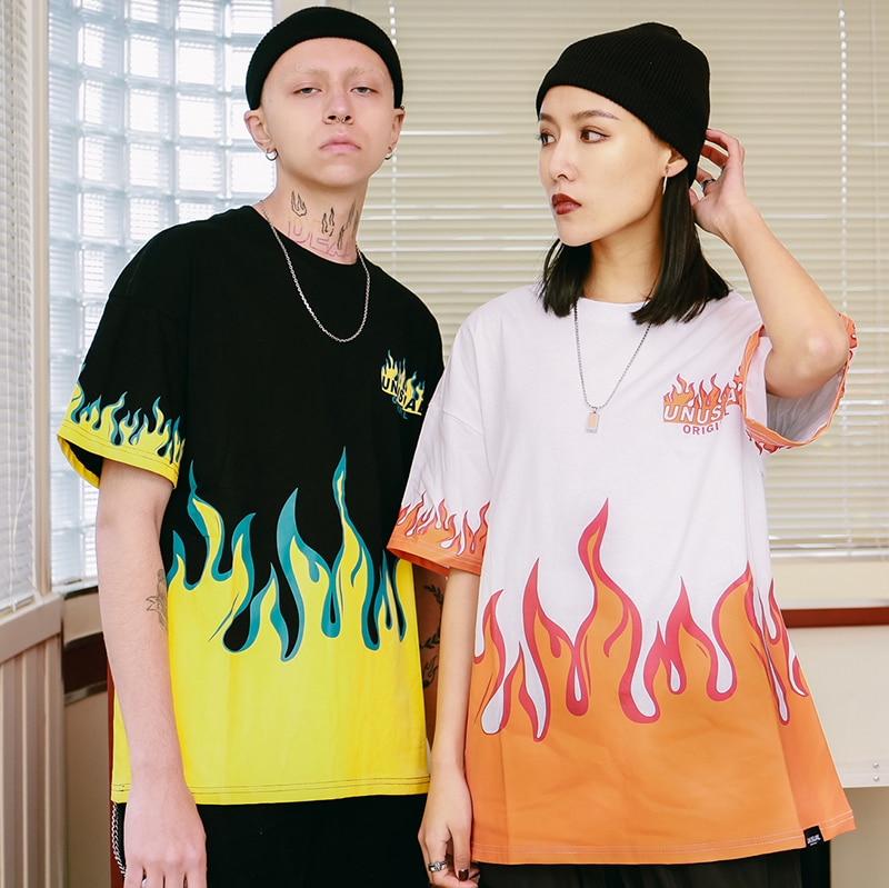 Fire Flame Fashion T-Shirt Mens T-Shirts
