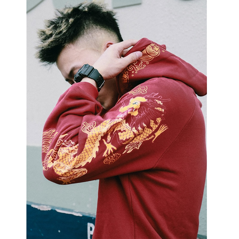 Ancient Chinese Dragon Print Hoodie Sweatshirt Mens Hoodies