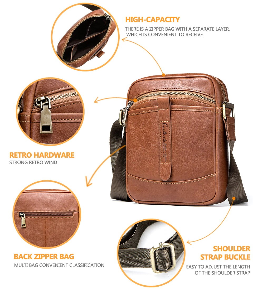 Genuine Leather Casual Crossbody Bags