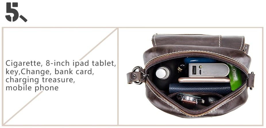 Genuine Leather Male Messenger Bags